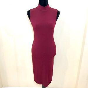 Burgundy BodyCon Dress!